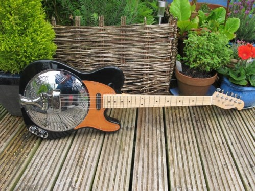 """Black and Tan Sollophonic with Hot-rail pickup. Great player and sounding, New owner says """"Thanks for the info and speedy service. Its a peach!"""""""