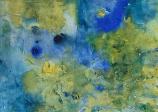 """""""Hereinspaziert"""", 1987, Aquarell, 50 cm x 30 cm"""
