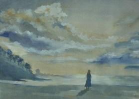 """""""Abschied, 1993, Mischtechnik, 37 cm x 30 cm"""