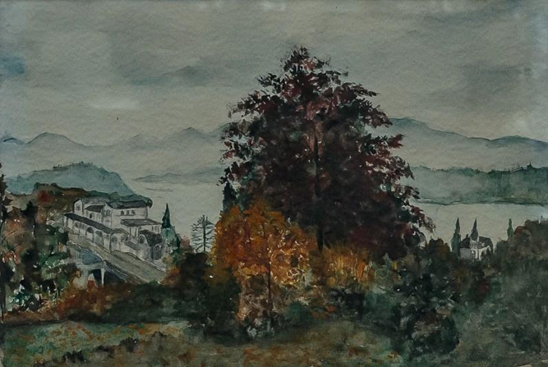 """""""Rolandseck, 1980, Aquarell, 38 cm x 26 cm"""