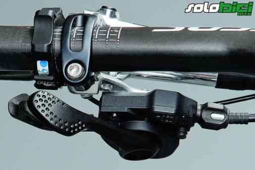 La bici permite tres posiciones: Todo bloqueado, bloqueada la horquilla y amortiguador bloqueado y todo desbloqueado.