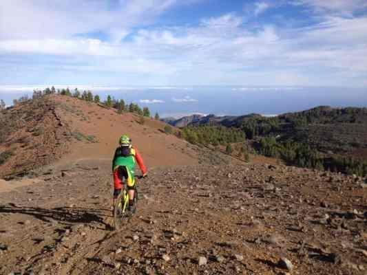 Sección superior trail Aguimes