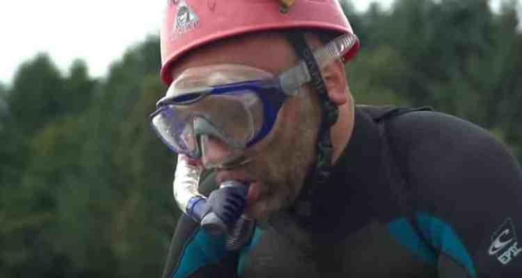 Un participante justo antes de iniciar el desafío