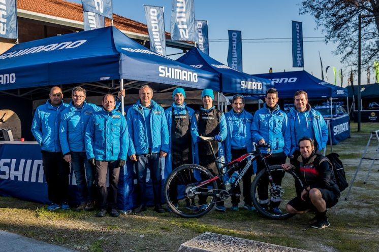 El equipo de Shimano España que nos dio apoyo en esta experiencia
