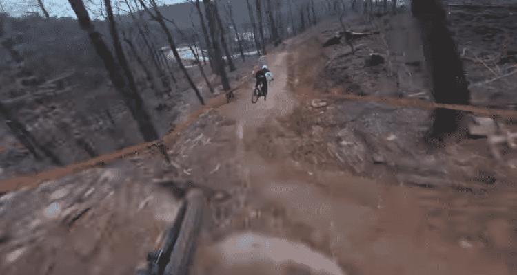 Descendiendo el Windrock Bike Park