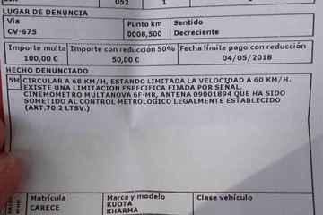 ciclistas multados por exceso de velocidad