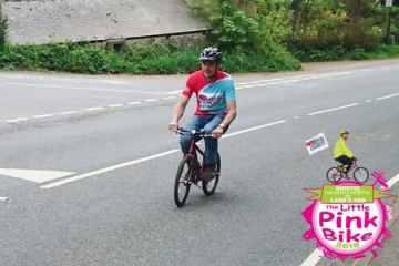 bici de su hija fallecida