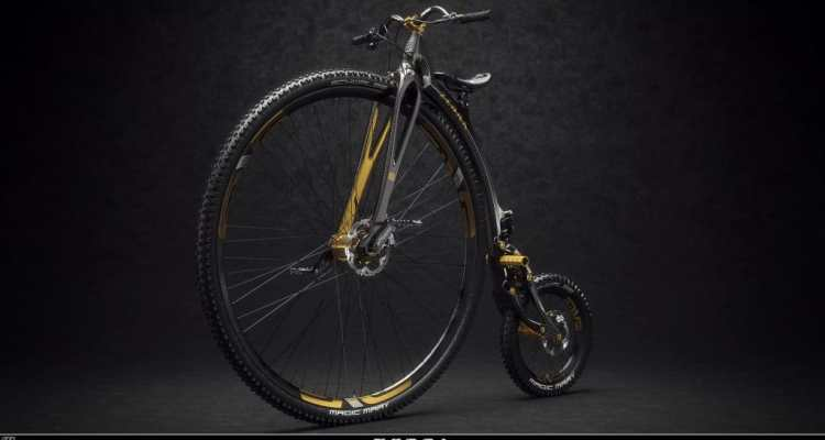 mountain bike de rueda alta