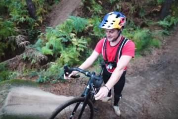 MTB con una bici de carretera