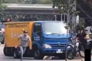 Ciclista y conductor se encaran
