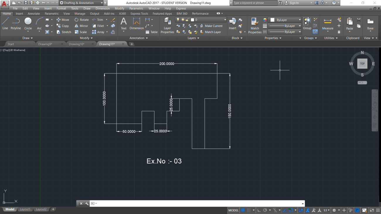 autocad practice drawing