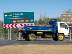 Camiones en Sudáfrica