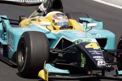Roldan Rodriguez en la escuderia de GP2 Minardi PiquetSports