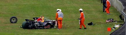 Asi quedó el RB 4 después del accidente