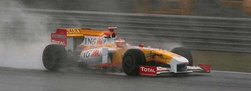 Fernando tuvo mala suerte en durante el GP de China