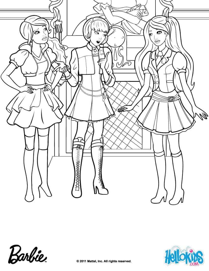 Desenhos Da Barbie Para Colorir 40 Opes Para Imprimir