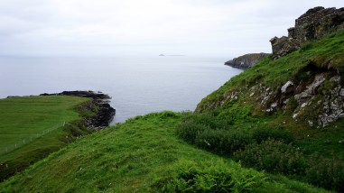 Next to Duntulm Castle ruins