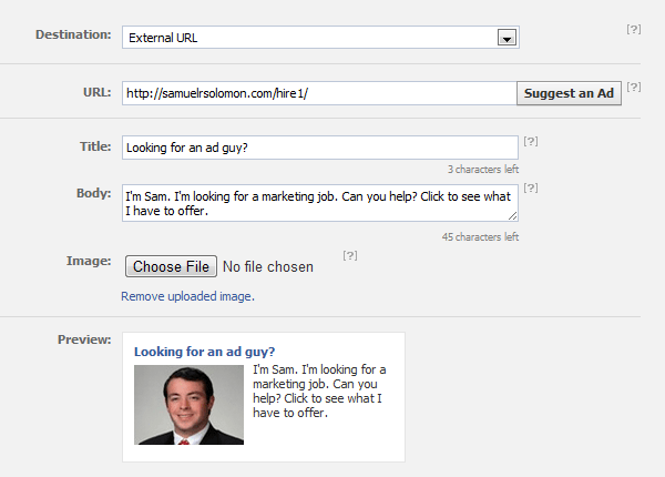 Creating a Facebook Job Ad