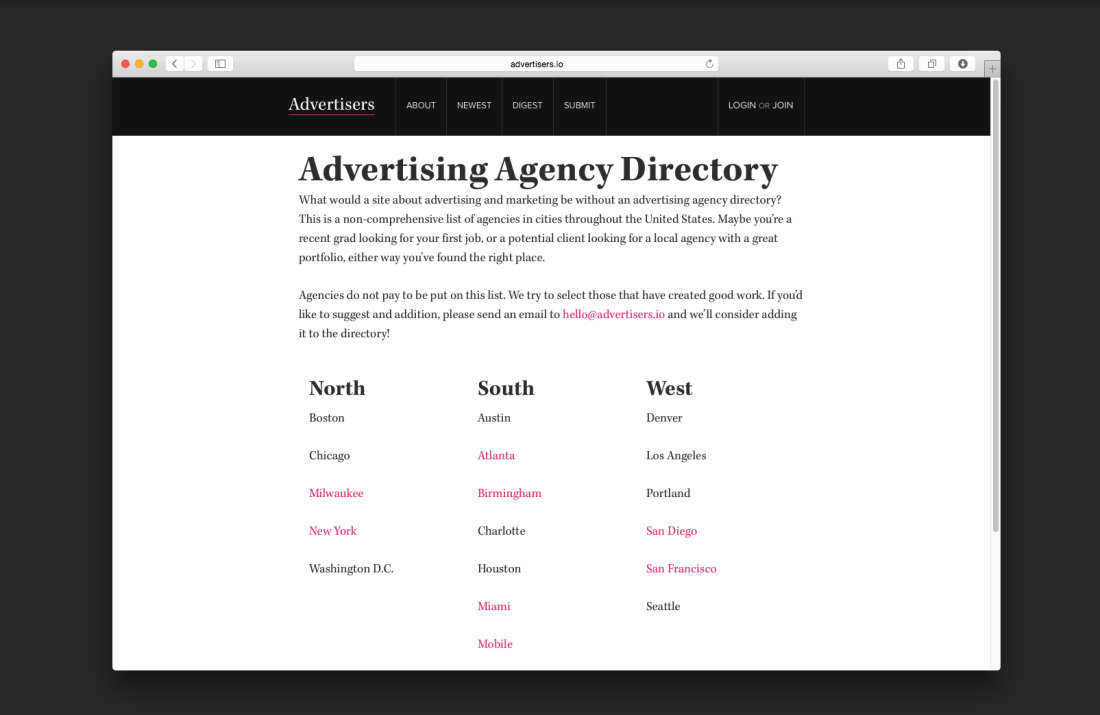 Advertising Agency Directory