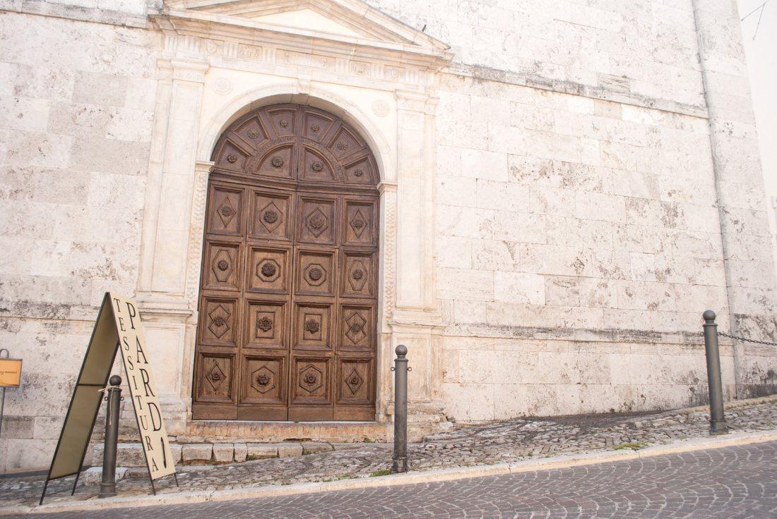 Door to the Museo Civico di San Francesco in Montefalco