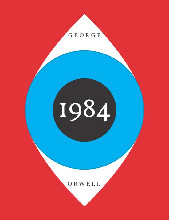 1984 Book Cover Eye