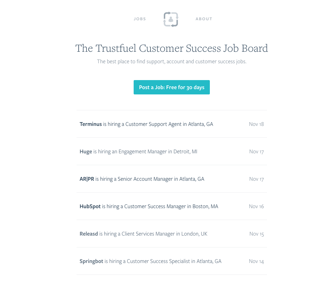 Customer Success Job Board
