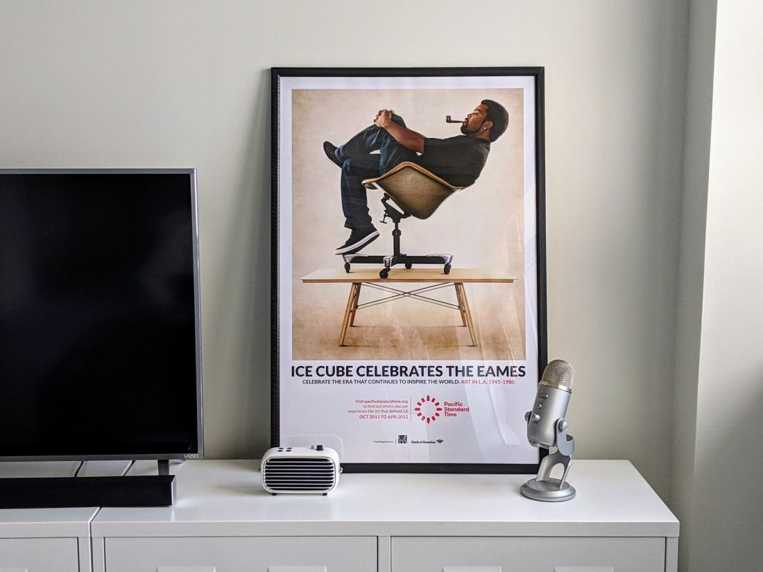 Ice Cube Celebrates the Eames Poster