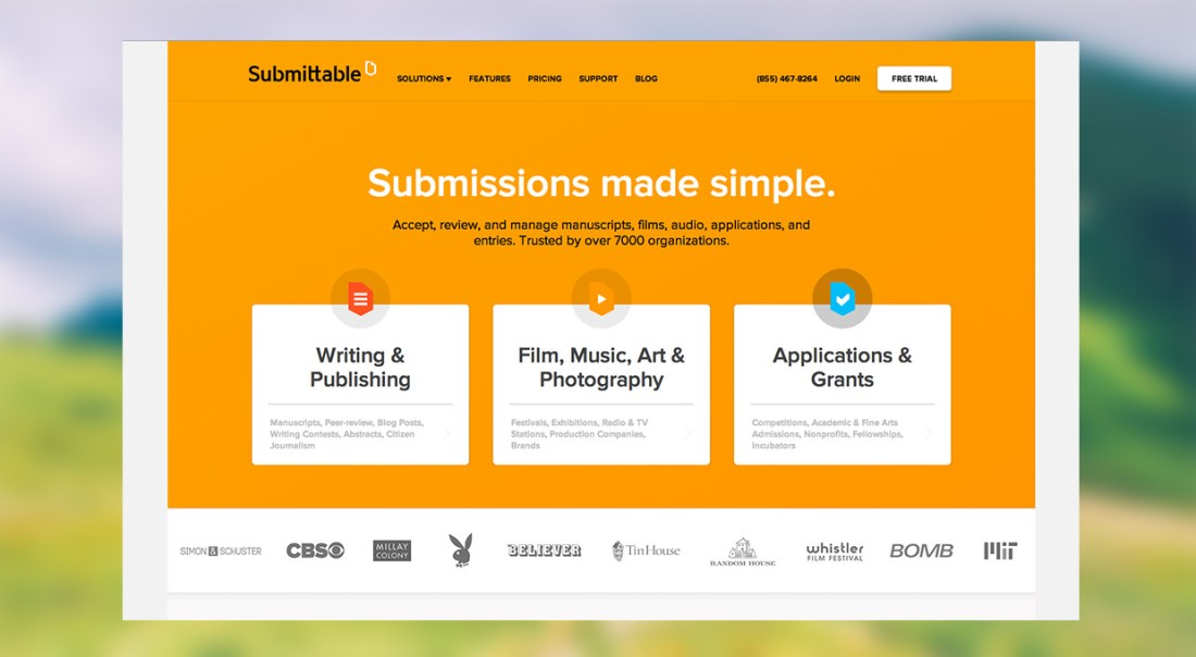 Submittable Homepage