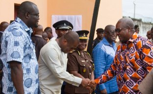 Receiving the President of Ghana to the Nsawam Medium Security Prison