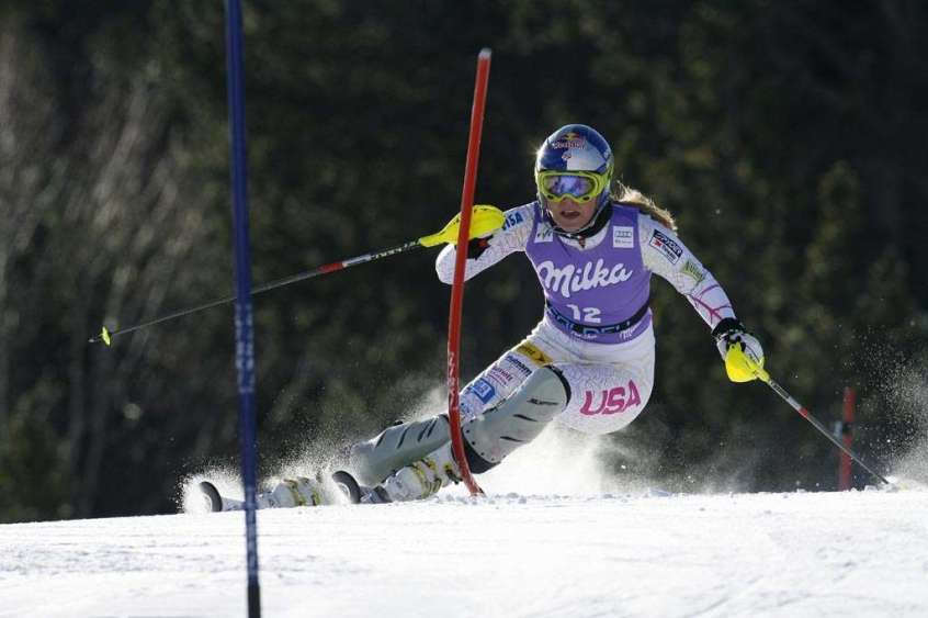 Reference : a12-sdws-ab-02-0110 Theme : ALPINE Style : ACTION People : WOMEN Discipline : SLALOM Racer's name : VONN Lindsey Place : SOLDEU (AND) 2012 Event : AUDI FIS ALPINE SKI WORLD CUP 2012 Copyright : Alexis BOICHARD/AGENCE ZOOM