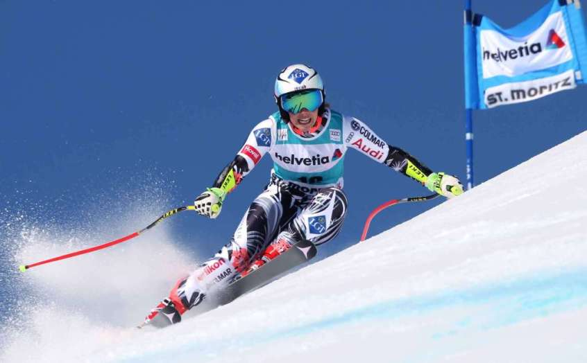 SANKT MORITZ,SWITZERLAND,17.MAR.16 - ALPINE SKIING - FIS World Cup Final, Super G, ladies. Image shows Tina Weirather (LIE). Photo: GEPA pictures/ Harald Steiner