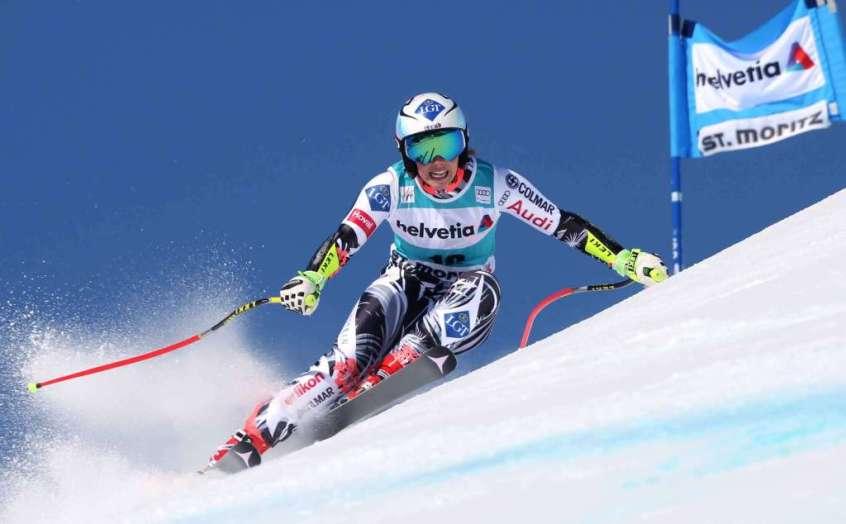 SANKT MORITZ,SWITZERLAND,17.MAR.16 - ALPINE SKIING - FIS World Cup Final, Super G, ladies. Image shows Tina Weirather (LIE). Photo: GEPA pictures/ Harald Steiner