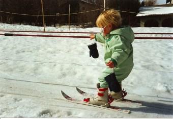 Una pequeña Lara Gut