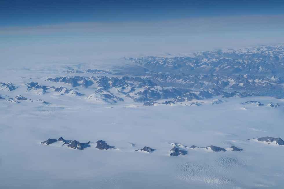 Überflug über Grönland