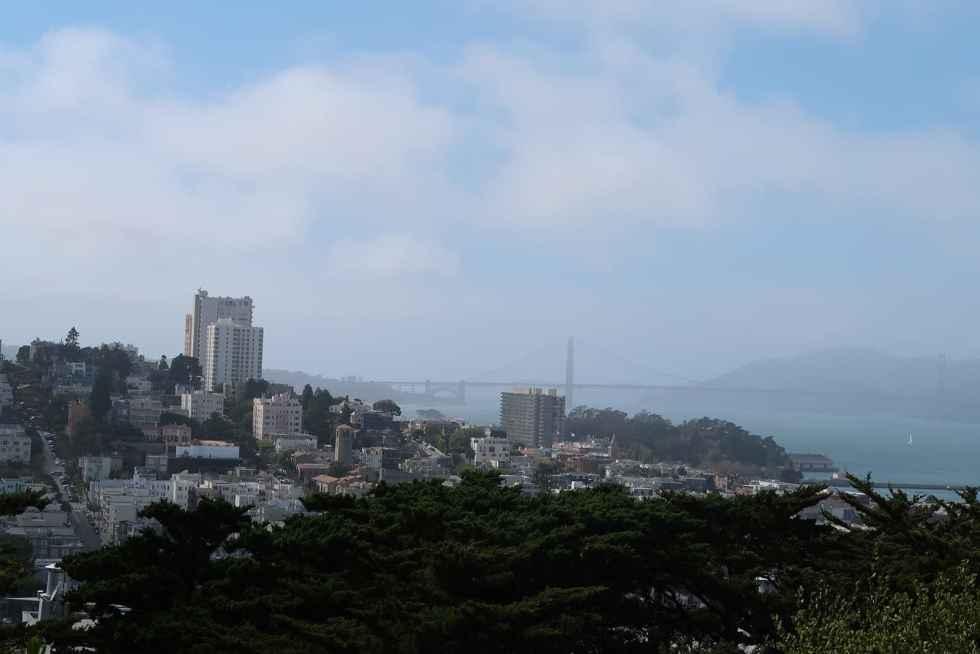 Blick Richtung Golden Gate Bridge