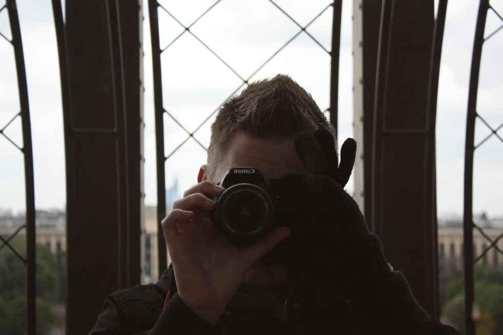 Selfie mit Kamera