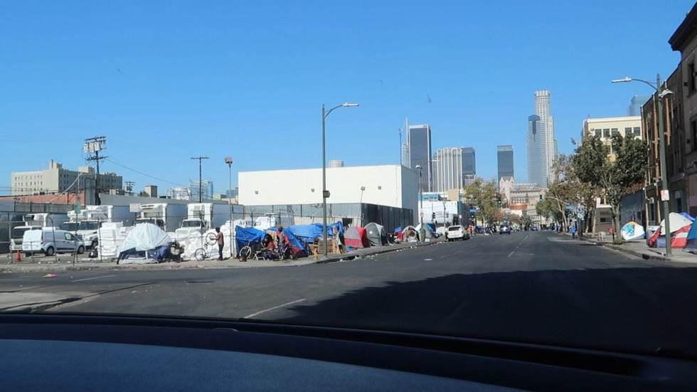 Zelte Obdachlose Los Angeles