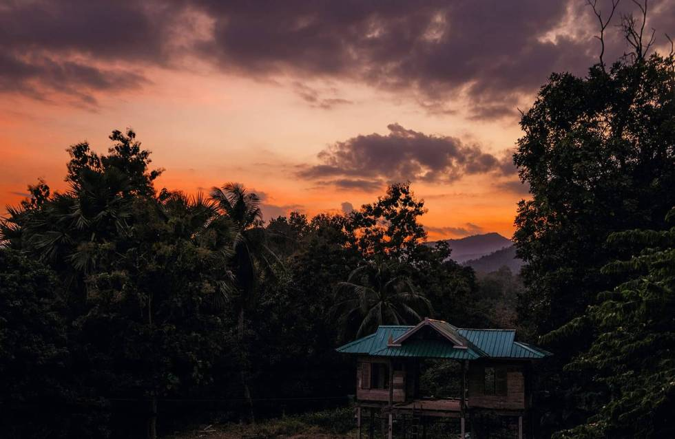 Sonnenuntergang Berge Doi Inthanon