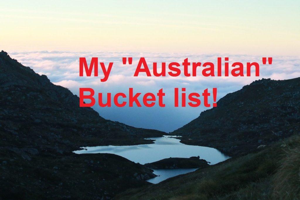 My Australian bucket list
