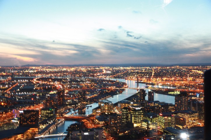View from Eureka Skydeck, Melbourne