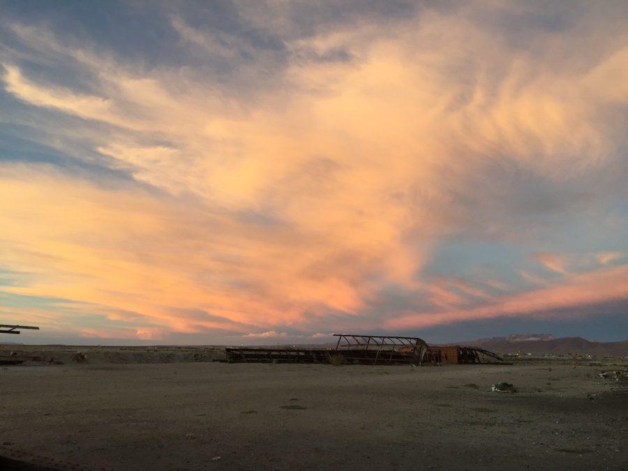 Sunset and star gazing at Train cemetery (Uyuni)