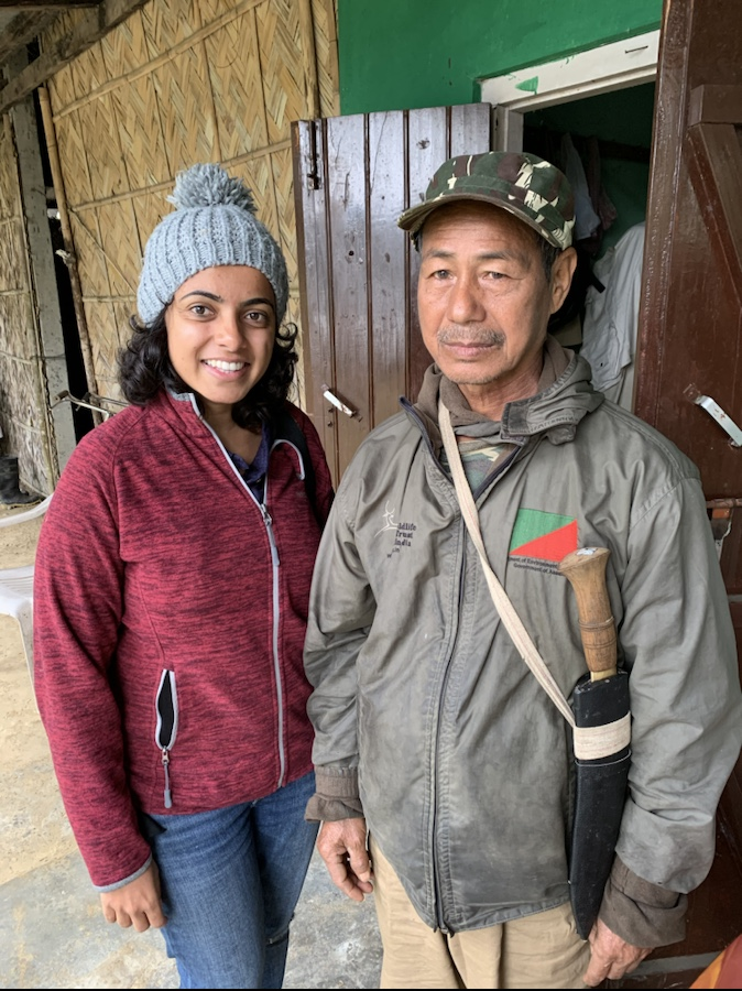 Me with one of the ex-poachers | Story of ex-poachers