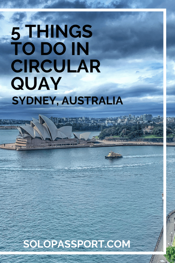 PIN for later reference - 5 things to do in Circular Quay