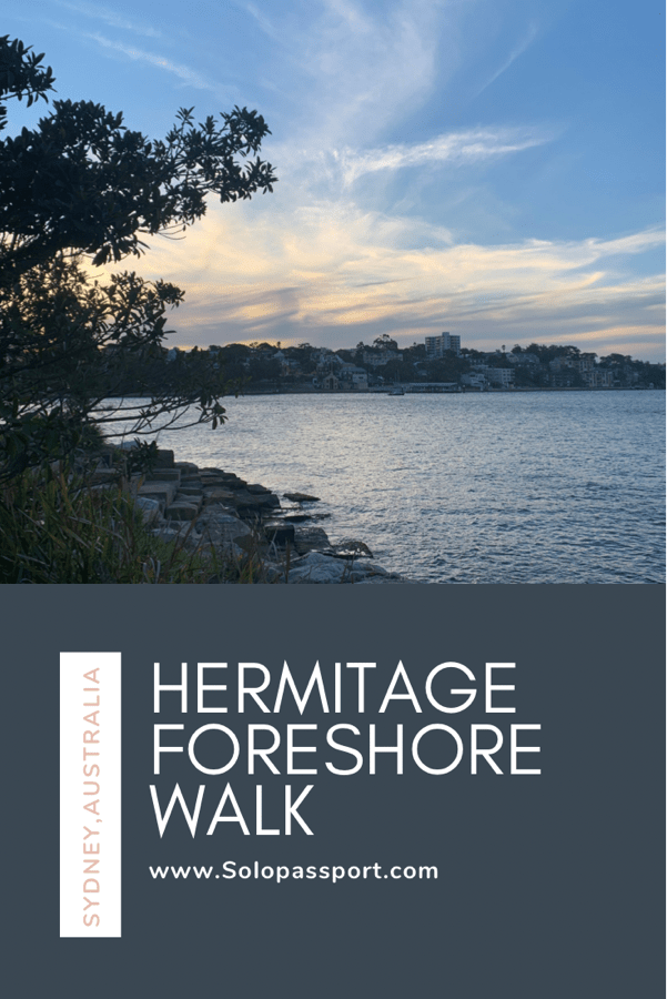 PIN for later reference - Hermitage Foreshore Walk in Sydney
