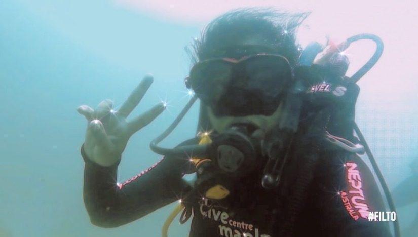 Diving at Fairlight beach