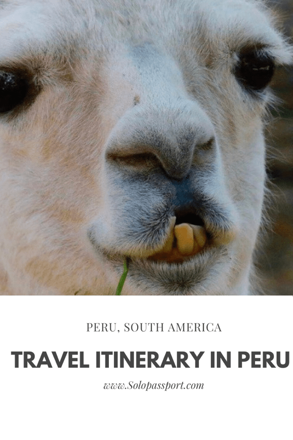 PIN for later reference - Travel itinerary for Peru