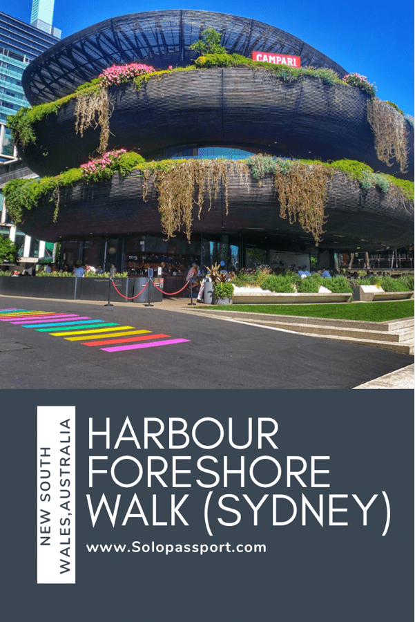 PIN for later reference - Harbour Foreshore Walk | Peak into Sydney History