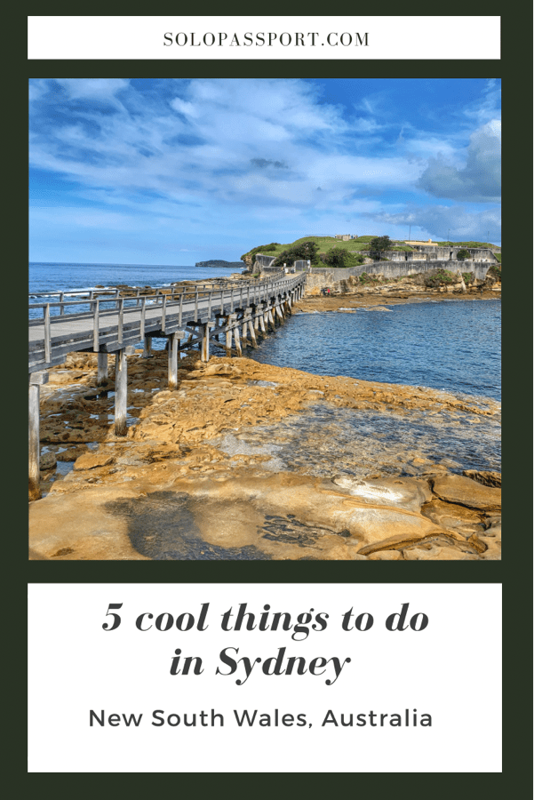 PIN for later reference - Top 5 things to do in Sydney