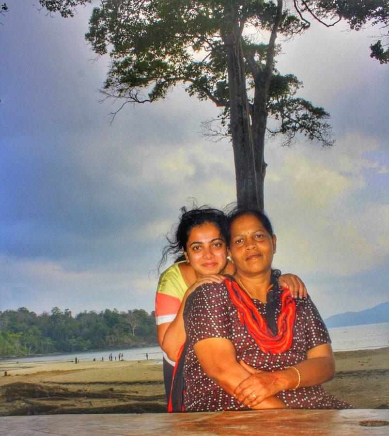 My mom and me at Chidiya Tapu