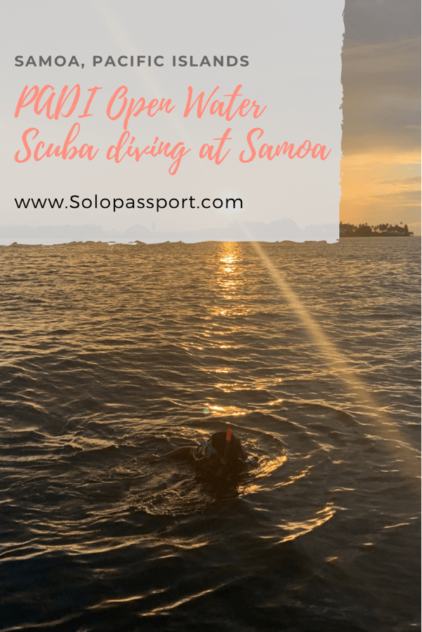 PIN for later reference - PADI Open Water scuba diving certification at Samoa